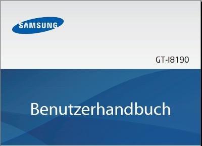 Samsung Galaxy S3 Mini Handbuch Cover