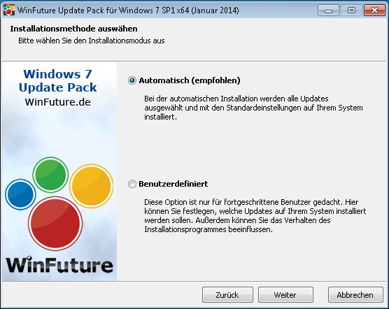 WinFuture Windows 7 SP1 Service Pack 1 Update Pack