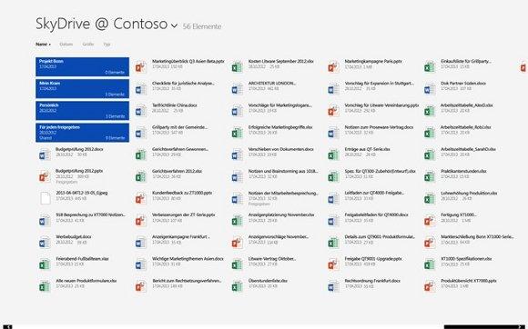 Word 2013 arbeitet sehr gut mit SkyDrive zusammen