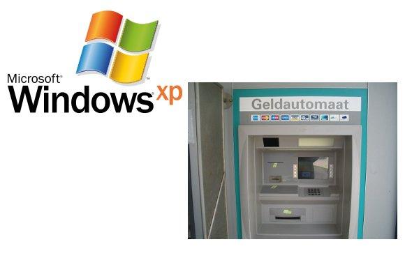 Größter Teil der Geldautomaten benutzt Windows XP
