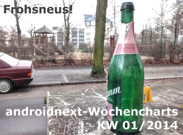 Android-Charts: Die androidnext-Top 5+5 der Woche (KW 1/2014)