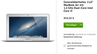 Apple Refurbished Store: Generalüberholtes MacBook Air für 849 Euro, iPad mini für 249 Euro