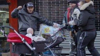 """Das Baby des Teufels macht New York unsicher (Viral zum Horrorfilm """"Devil's Due"""")"""