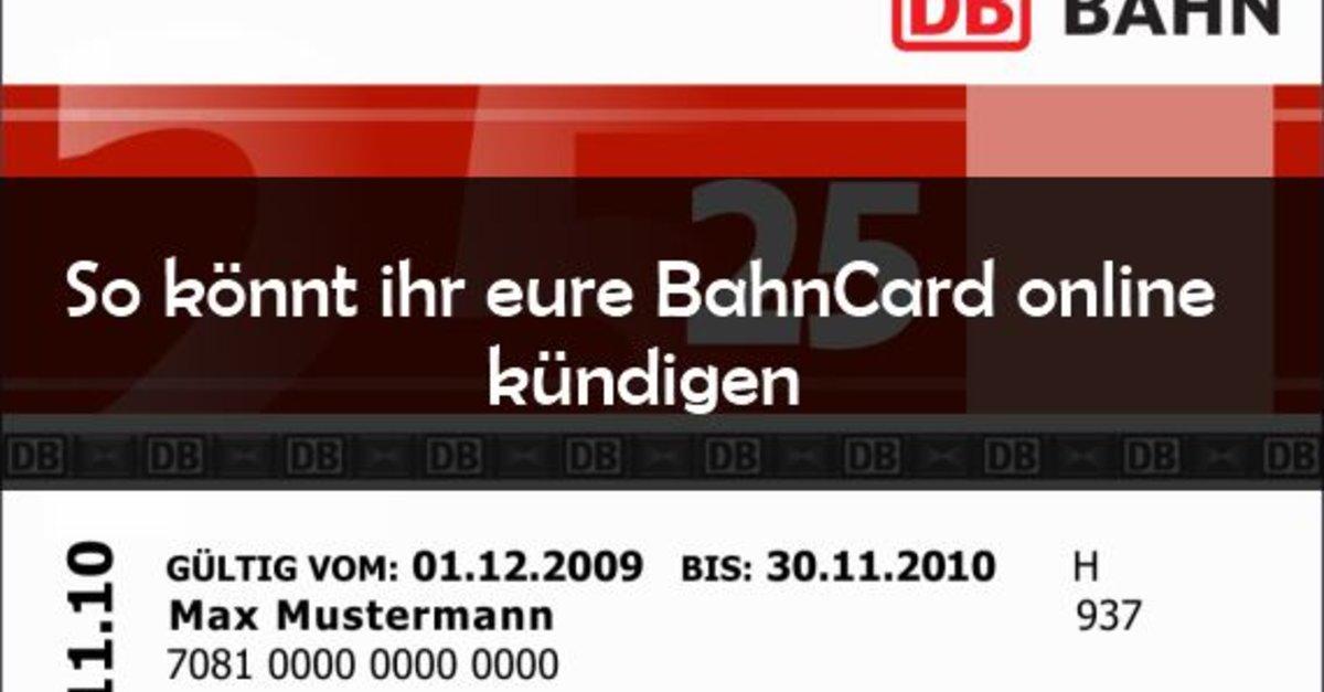bahncard kndigen online oder per brief giga - Bahncard Kundigen Muster