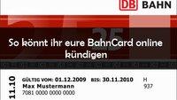 BahnCard kündigen: Online, per E-Mail oder per Brief – so geht's