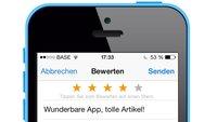 App Store: Bewertung nachträglich ändern (Tipp)