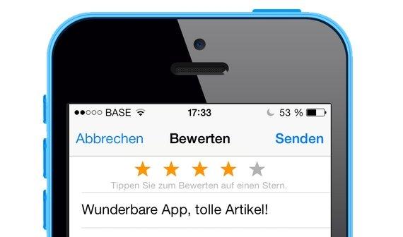 Bewertung der App