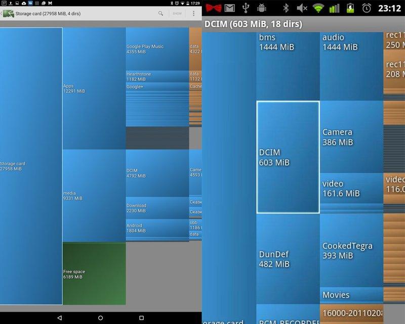 Die App Diskusage zeigt grafisch an wo die größten Dateien und Ordner liegen.