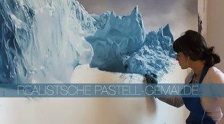 Hyper realistische Pastellzeichnungen von Grönlands Eisbergen!