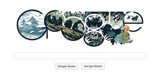 Dian Fossey auf Google Doodle: Es lebe der Gorilla!