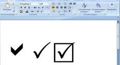 Häkchen-Symbol: So geht's in Word, Excel und auf Facebook (mit Vorlage)