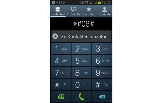 IMEI Nummer bei Samsung Smartphones anzeigen
