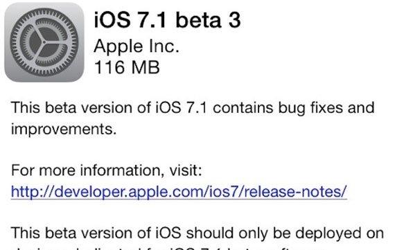 iOS 7.1 Beta 3 veröffentlicht: Neuerungen im Überblick