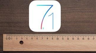 iOS 7.1: Mit dem Lineal nachgemessen (Kaules Bettmümpfeli*)
