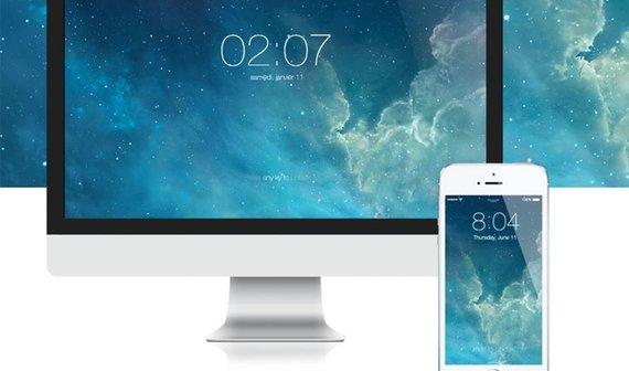 iOS 7 Screensaver für den Mac: iPhone-Sperrbildschirm unter OS X (Kostenloser Download)