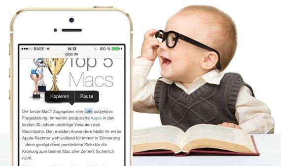 ios 7 texte von iphone und ipad vorlesen lassen tipp. Black Bedroom Furniture Sets. Home Design Ideas