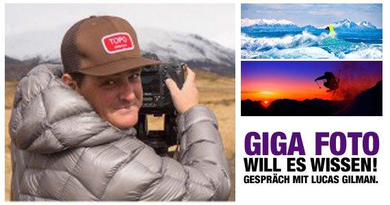 GIGA FOTO will es wissen! Im Gespräch mit Lucas Gilman.