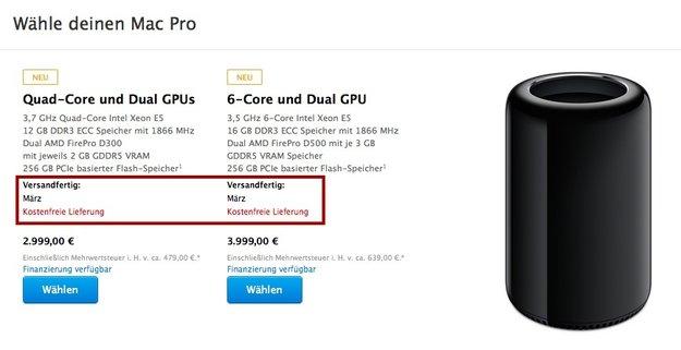 Mac Pro: Jetzt erst im März versandfertig