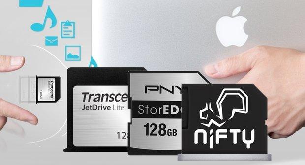 MacBook Air und Retina: Speicher erweitern durch passgenaue SD-Karten (Übersicht)