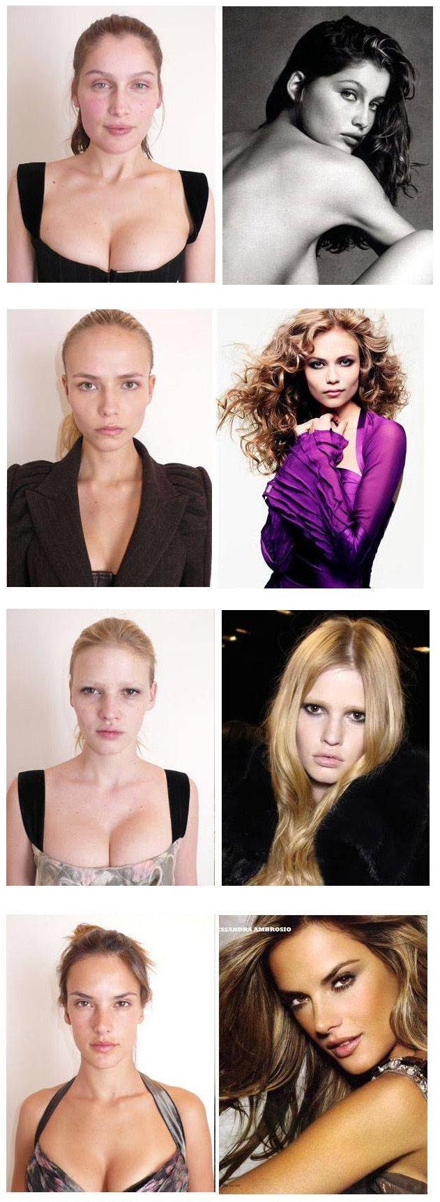 Models Ziehen Blank