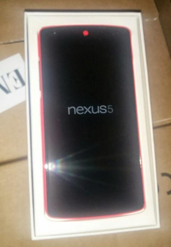 Google Nexus 5 in Rot zeigt sich erneut!