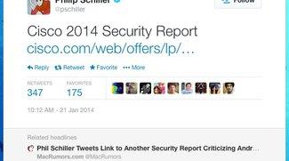 Phil Schiller twittert wieder über Android-Malware