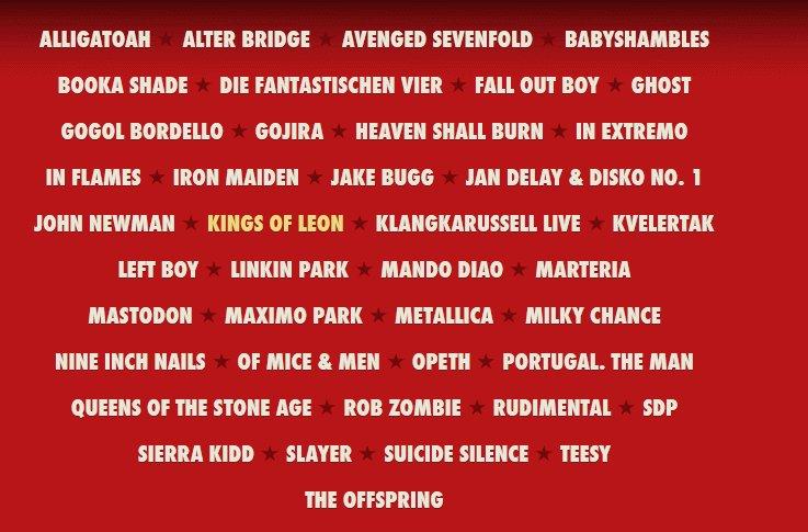 Rock Am Ring 2014 Bands und Tickets