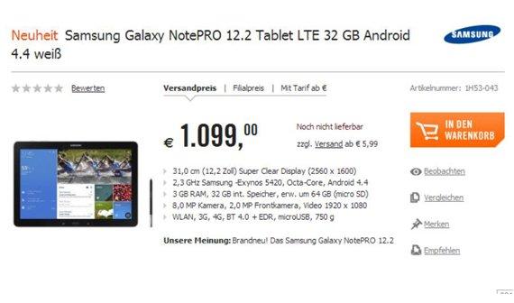 Preise für Galaxy NotePRO und TabPRO-Serie - sind die wirklich so teuer?