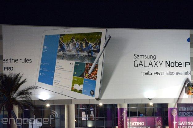 Samsung Galaxy Note Pro 12.2, Tab Pro 12.2, 10.1 &amp&#x3B; 8.4: Specs &amp&#x3B; offizielle Werbebanner zu neuen Tablets gesichtet [CES 2014]