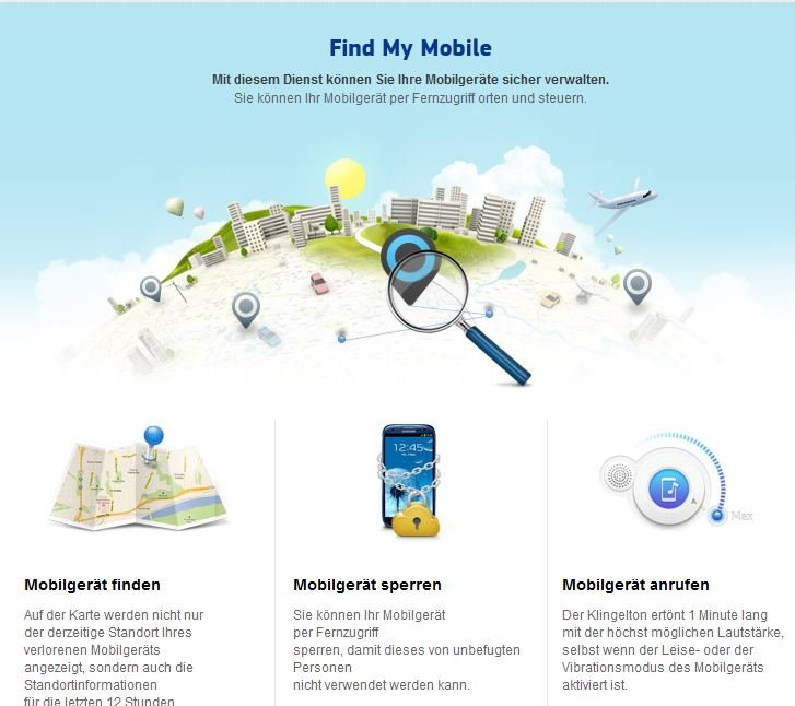 Samsung Konto Find My Mobile