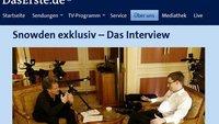 Exklusives Snowden-Interview am Sonntag im Ersten und in der Mediathek