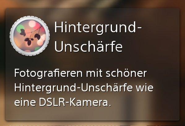 Sony Xperia Z1s: Background Defocus-Kameraeffekt auf weiteren Xperia-Modellen nutzbar [APK-Download]