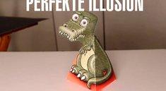 Fantastische optische Täuschung! Die T-Rex Illusion!