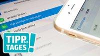 Persönlicher Hotspot mit iPhone & iPad: Datentarife geräteübergreifend nutzen