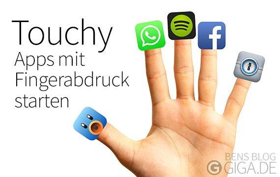 Touchy für Touch ID: Apps mit Fingerabdrücken öffnen (Cydia)