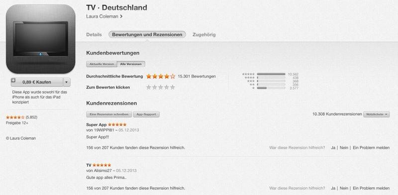 Bewertung: TV Deutschland