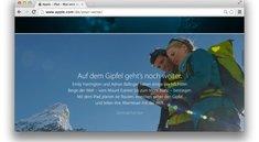 Apple-Webseite mit neuem Vers, oder: Es gibt hier nichts zu sehen