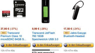 Deals des Tages: 64GB Micro-SD, Galaxy S4 Lederhülle und Bluetooth Headset