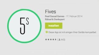 Fives - Android Alternative zu Threes (Achtung, Suchtgefahr!)