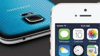 iPhone 5s und Samsung Galaxy S5 im Vergleich