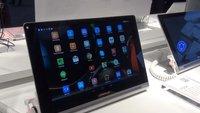 Lenovo Yoga Tablet 10 HD+: Hands-On-Video des Kickstand-Tablets mit Full HD-Display [MWC 2014]