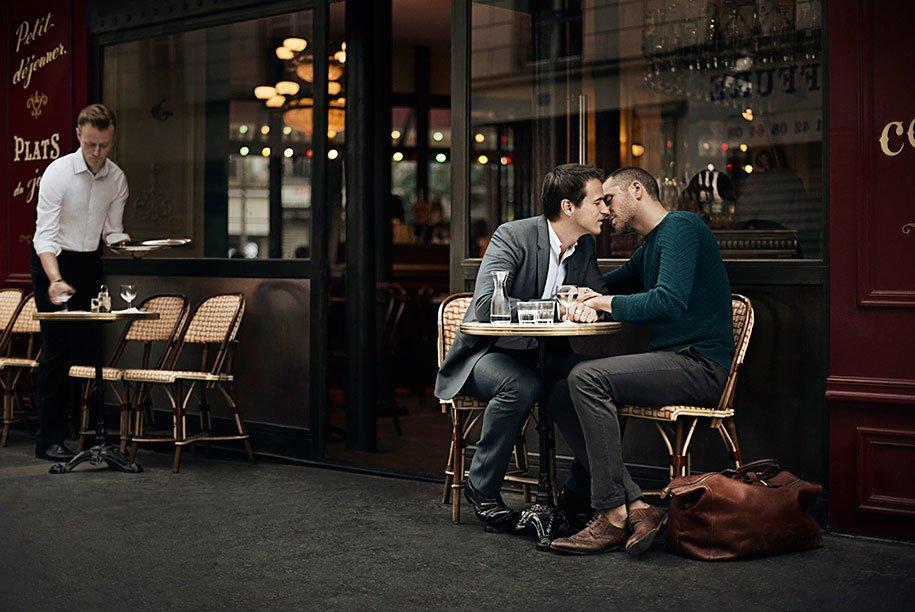 Romantische Bilder der Gay (LGBT) -Community