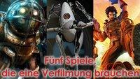 Von Portalen und großen Vätern: Diese 5 Spiele brauchen eine Film-Adaption!