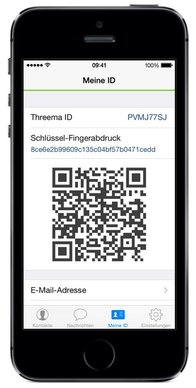 Threema-QR-Code (iPhone)