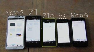 Sony Xperia Z1 Compact: Benchmark und Display-Vergleich