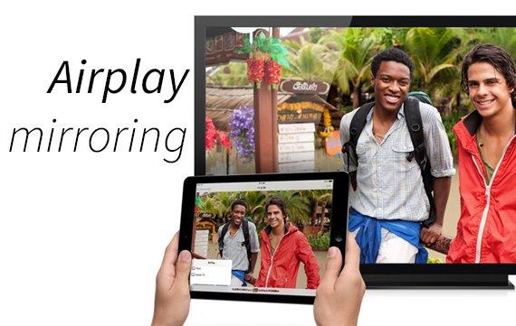 Airplay mirroring zeigt das Bild von iPhone oder iPad auf dem TV an.