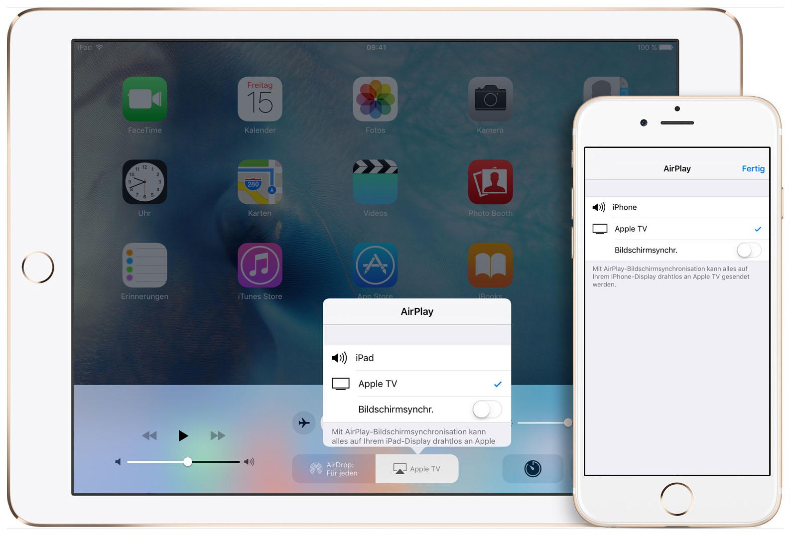 Bildschirmsynchronisation Iphone