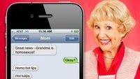 Grandma is homosexual: Die witzigsten Fehler der iPhone-Autokorrektur