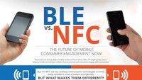 Bluetooth Low Energy BLE vs. NFC [Infografik]
