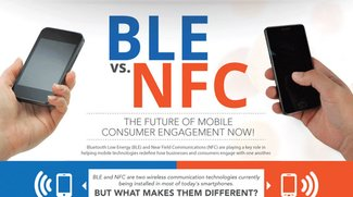 Bluetooth Low Energy BLE vs. NFC [Infografik]